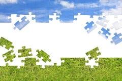 pojęcia charakteru puzzle 3 d Zdjęcia Stock