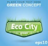 pojęcia eco trawiasty znak Fotografia Royalty Free
