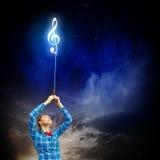 pojęcia gitary elektrycznej ilustraci muzyka Zdjęcia Stock
