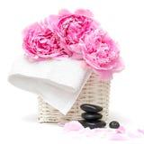 pojęcia kwiatu relaksu zdroju kamienie Zdjęcie Royalty Free