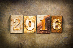 2016 pojęcia Letterpress skóry temat Zdjęcie Royalty Free