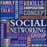 pojęcia networking socjalny Obraz Royalty Free