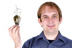 pojęcia odnawialny energetyczny promocyjny Obrazy Royalty Free