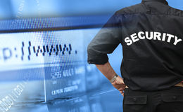 pojęcia online ochrony zakupy Zdjęcie Royalty Free