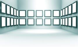 pojęcia powystawowa galerii sala fotografia Obrazy Stock