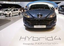 pojęcia rcz hybrid4 Peugeot Fotografia Royalty Free