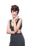 pojęcia redakcyjnej mody wysoka kobieta Zdjęcia Royalty Free
