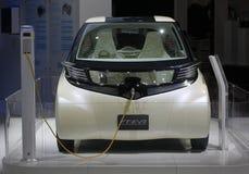 pojęcia samochodowy electrique ev2 ft Toyota obrazy royalty free
