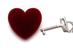 pojęcia serca klucz Obraz Stock