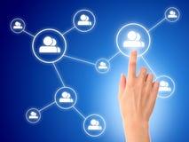 pojęcia sieci socjalny Obraz Stock