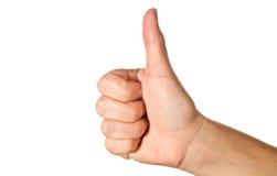pojęcia sukcesu kciuk Obraz Stock
