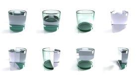 pojęcia szklanek wody ilustracja wektor