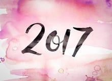 2017 pojęcie akwareli temat Fotografia Royalty Free