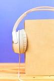 Pojęcie audiobook Zdjęcia Stock