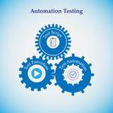 Pojęcie automatyzaci testowanie Zdjęcia Stock