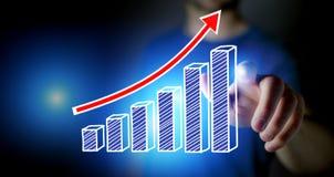 Pojęcie biznesowego wykresu ikony technologii interfejs - technologia Fotografia Stock