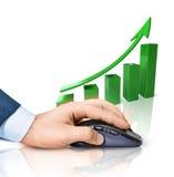 pojęcie biznesowi internety Obraz Stock