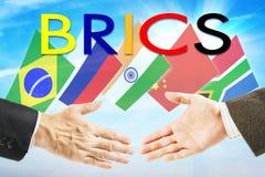 Pojęcie BRICS zjednoczenie Fotografia Stock