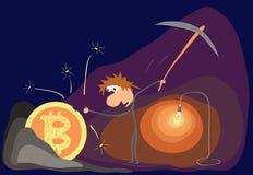 Pojęcie crypto waluty kopalnictwo Royalty Ilustracja