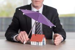 Pojęcie domowy ochrony sprawozdanie Zdjęcie Stock
