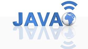 pojęcie Java ilustracja wektor