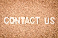 pojęcie kontakt my Zdjęcie Stock