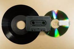 Pojęcie muzyczna ewolucja Zdjęcia Stock