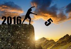 Pojęcie nowy rok 2016 Fotografia Royalty Free