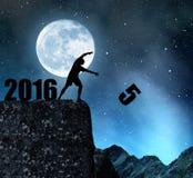 Pojęcie nowy rok 2016 Zdjęcia Royalty Free