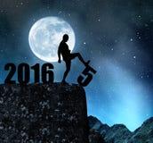 Pojęcie nowy rok 2016 Obrazy Royalty Free