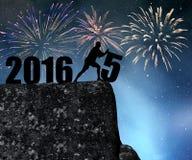 Pojęcie nowy rok 2016 Zdjęcia Stock