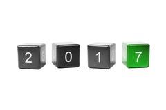 Pojęcie nowy rok 2017 Zdjęcie Stock