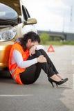 Pojęcie o transportu i samochodu awarii Obraz Royalty Free