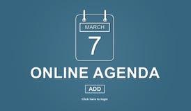 Pojęcie online agenda Obrazy Royalty Free