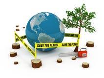 pojęcie planeta save Fotografia Stock