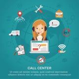 Pojęcie pomocy technicznej centrum telefoniczne Obrazy Stock