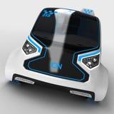 Pojęcie projekt miasto ogólnoludzki elektryczny pojazd ilustracja 3 d Zdjęcie Royalty Free