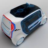 Pojęcie projekt miasto ogólnoludzki elektryczny pojazd ilustracja 3 d Zdjęcia Royalty Free