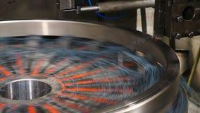 Poj?cie przemys? Machining proces w fabryce dla znosić produkcję Metal pracuj?ca tokarka a w fabryce nowo?ytny zbiory