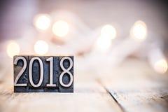 2018 pojęcie rocznika Letterpress typ temat Fotografia Royalty Free