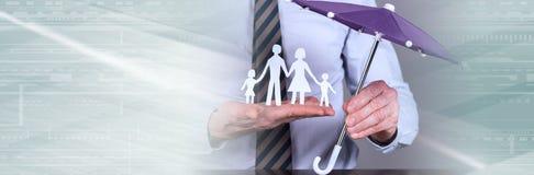 Poj?cie rodzinna ochrona zdjęcia royalty free