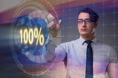 Pojęcie sto procentów 100 Obraz Stock