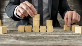 Pojęcie strategia biznesowa i planowanie Zdjęcia Stock