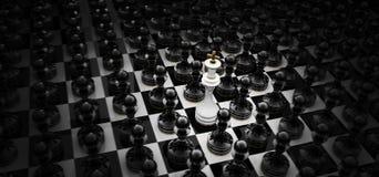 pojęcie szachowy wizerunek Obrazy Stock