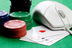 pojęcie uprawia hazard online Zdjęcia Stock