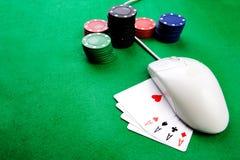 pojęcie uprawia hazard online Zdjęcia Royalty Free