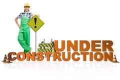 Pojęcie w budowie dla twój webpage Obraz Stock