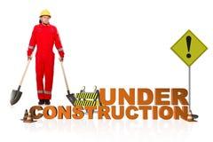 Pojęcie w budowie dla twój webpage Fotografia Stock