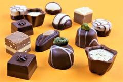 Pojęcie wizerunek niektóre czekolad pralines Obrazy Royalty Free