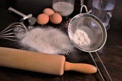 Pojęcie wizerunek pieczenie, piekarnia, jedzenie, kuchnia Zdjęcie Stock